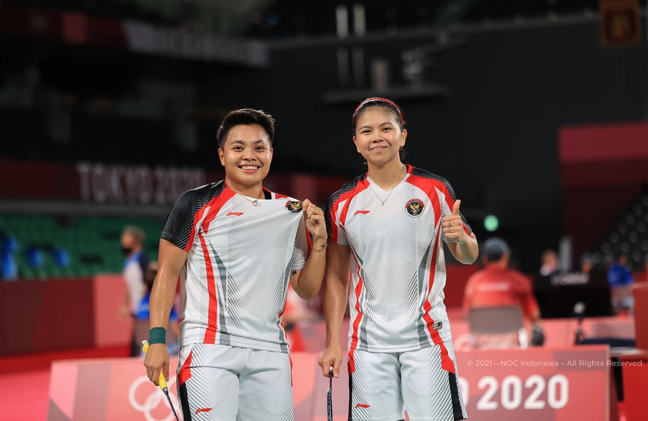 Greysia/Apriyani Ingin Tetap Fokus dan Tak Terbebani Hadapi Lawan di Perempatfinal