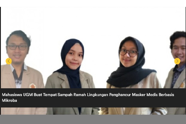 Mahasiswa UGM Buat Tempat Sampah Penghancur Masker Medis Berbasis Mikroba